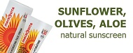 SUNFLOWER, OLIVES, ALOE - natural sunscreen