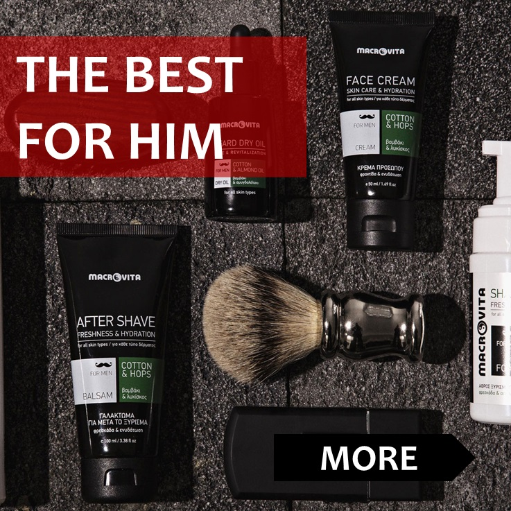 The best cosmetics for him! Naturally from MACROVITA. Check it!