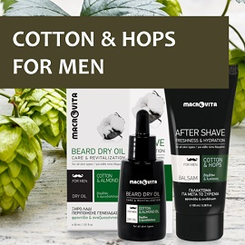 Enjoy MACROVITA COTTON, HOPS and GINSENG face care for men!