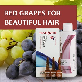 Enjoy MACROVITA RED GRAPES natural cosmetics!