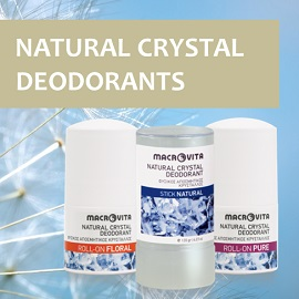 Enjoy MACROVITA NATURAL CRYSTAL DEODORANTS!