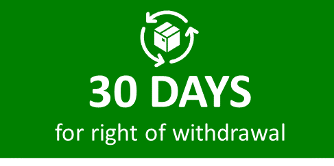 Up to 30 days for right of withdrawal.