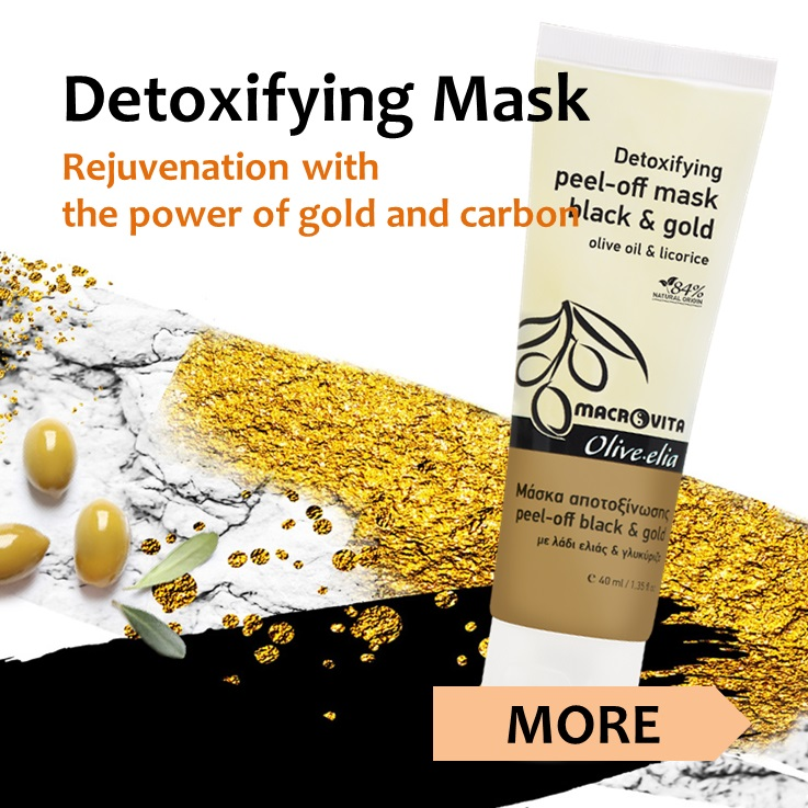 MACROVITA OLIVE-ELIA Detoxifying black & gold peel-off mask
