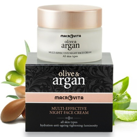 MACROVITA ARGAN & OLIVE MULTI-EFFECTIVE NIGHT FACE CREAM all skin types 50ml